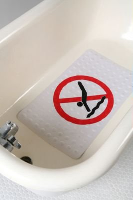No Diving Rubber Bath Mat 