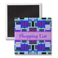 Colorful Shopping List Refrigerator Magnet from Zazzle.com