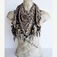 ON SALE PRETTY Woman Scarf Or Shawl With by mediterraneanlights