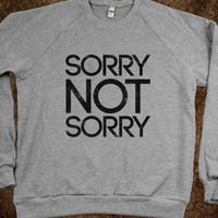 Sorry Not Sorry (crew neck) - Galaxy Cats