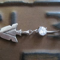 Arrowhead- Belly Button Jewelry Ring Tribal Native American Arrow Head Charm Dangle Navel Piercing
