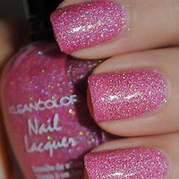 1 Kleancolor  HOLO PINK  Glitter Nail Polish Holographic Glittering Color