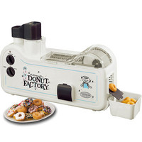 Nostalgia Automatic Home Donut Factory Maker, Electric Mini Doughnut Machine