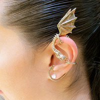 Bronze Elfin Dragon Ear Wrap by martymagic on Etsy