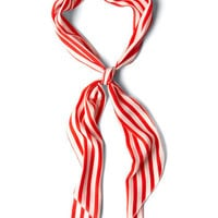 Bow to Stern Scarf in Crimson Stripes | Mod Retro Vintage Scarves | ModCloth.com