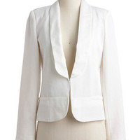 Whiter Shade of Vail Blazer | Mod Retro Vintage Jackets | ModCloth.com