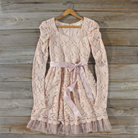 Hearthside Lace Dress, Sweet Women&#x27;s Bohemian Clothing