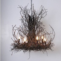 Natural Light Twig Chandelier made by Wish Designs. Welcome to LuxeYard.com