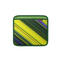 Diagonal Stripes in Bright Greens and Yellows iPad Sleeve from Zazzle.com
