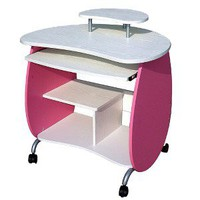 Techni Mobili Girls Computer Desk - Pink/White