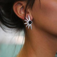 Silver Spike earrings | Wanderland | ASOS Marketplace