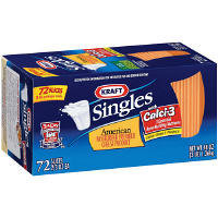 Kraft American Cheese Singles- 48oz