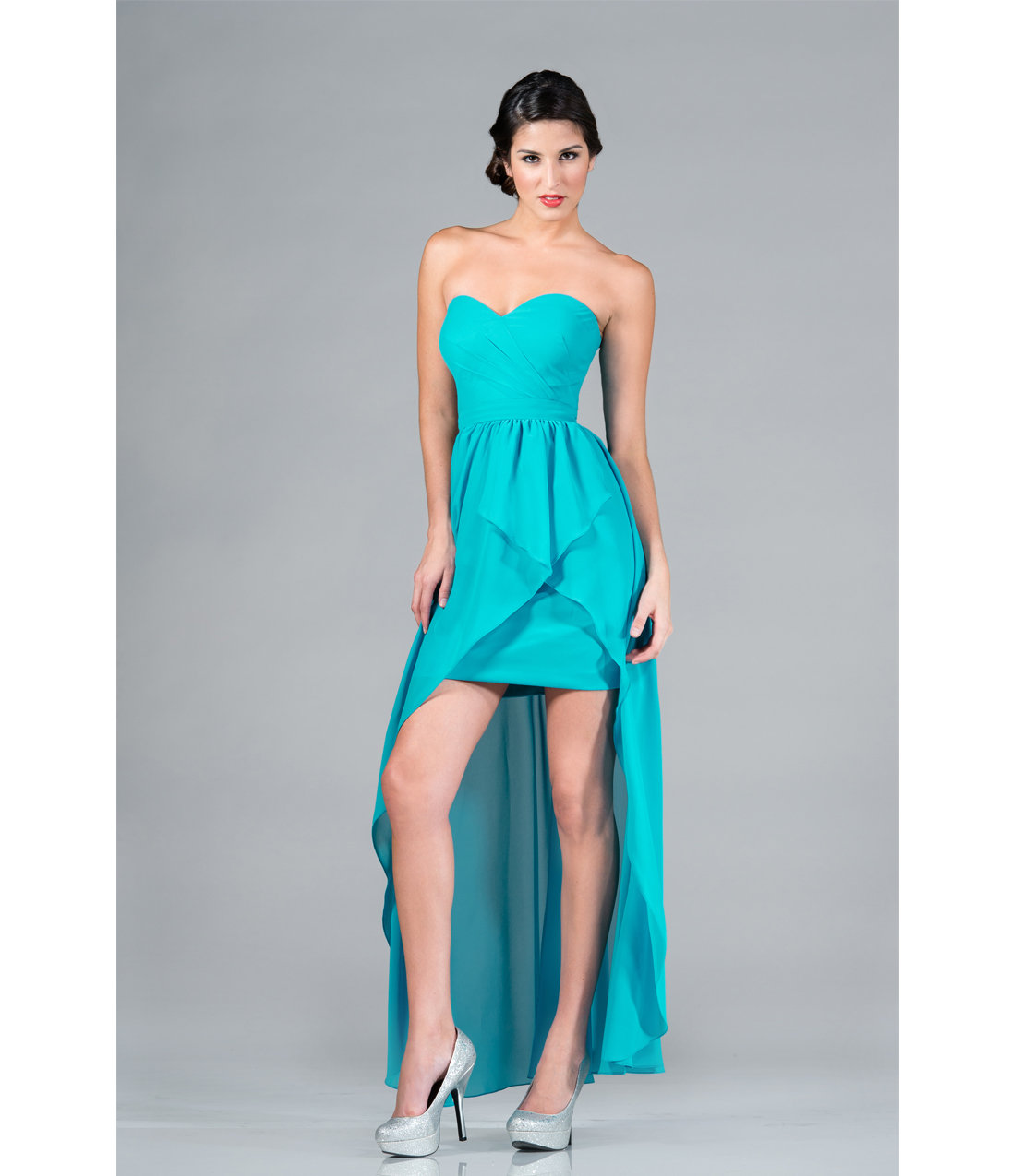 turquoise dresses high low