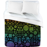 DENY Designs Home Accessories | Nick Nelson Modern Elements With Spectrum Duvet Cover