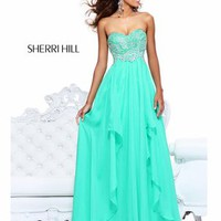 Strapless Sweetheart Bodice Formal Prom Dress By Sherri Hill 3874