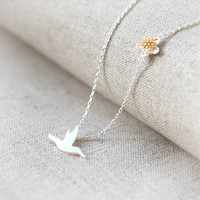 Hummingbird Necklace by laonato on Etsy