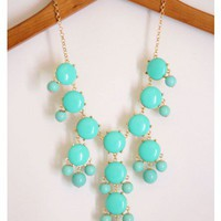 Bubble Necklace - Aqua