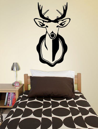Deer Head Decal - Decals - Wall