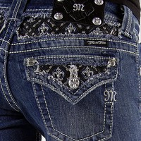 Miss Me Glitz Straight Stretch Jean