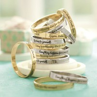 Inspirational Sentiment Bangles