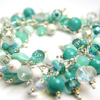 Cha Cha Easter Mother's Day Teal Aqua Bracelet by Thebracelettree