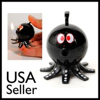 BLACK OCTOPUS BUTANE LIGHTER Refillable Fish Flame Torch Cigarette Pocket NEW