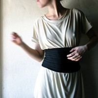 Back Stretchy Jersey Belt  Bandeau  by larimeloom on Etsy