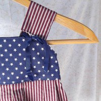 Stars and Stripes Jumper or Sundress by Heavenlyprincess on Zibbet