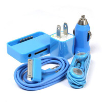 BLUE USB Data Cable+Car ...