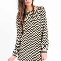 Mod Zags Shift Dress - &amp;#36;40.00 