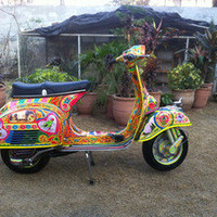 Vespa 150 super 1970 Restored Scooter Pakistan Truck Jingle Folk Art Hand Paint in Scooters &amp; Mopeds | eBay Motors