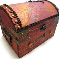 Medieval Chained Dragon Chest by DeweysNook on Etsy