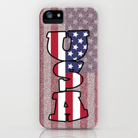 USA Stars & Stripes iPhone Case for iphone 5, 4S, 4, 3GS, 3G by Alice Gosling | Society6