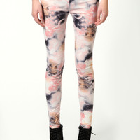 Luna Pastel Galaxy Print Leggings