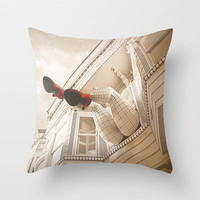 She Looks Good in Red Throw Pillow by SSC Photography | Society6