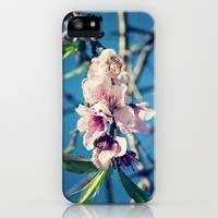 Nectarine Blossoms iPhone Case by Around the Island (Robin Epstein) | Society6