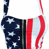 American Flag Crop Bralet Top