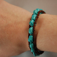 Turquoise Wrap Bracelet by BeYouTiFuLbyLindZ on Etsy
