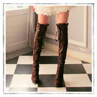lace up over the knee boots : Asian iCandy Store, Indie Clothing, Modern Asian & Japanese Fashion