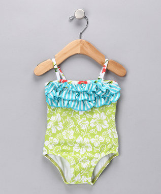 Azul Swimwear - Going Green One-Piece - Infant, Toddler & Girls
