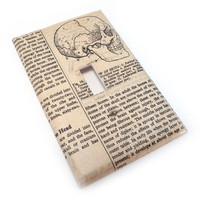 Human skull light switch cover by summittdesigns on Etsy