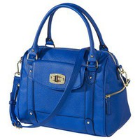 MERONA Blue Turnlock Satchel