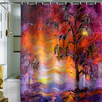 Ginette Fine Art Okefenoee Sunset Shower Curtain
