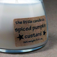 Soy Jar Candle Spiced Pumpkin Custard Scented by littlecandles