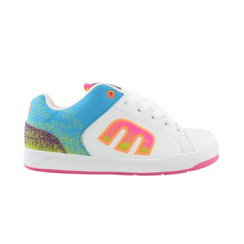 Womens etnies Geni Skate Shoe, White/Pink/Blue, at Journeys Shoes