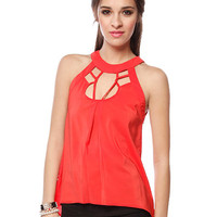 Papaya Clothing Online :: CUT OUT FRONT AND BACK SLEEVELESS TOP