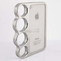 The Rings Creative Designer Electroplating Case Cover For iPhone 4 4S 4G 35B