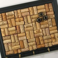EcoVolveNow Wine Cork Key Rack in Black