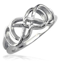 Double Infinity Symbol Ring, Best Friends Forever Ring, Sisters Ring, 8mm in Sterling Silver