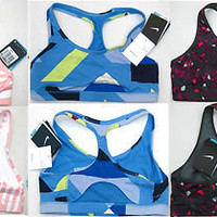 New One Nike Dri-FIT Principle Geometric Sports Bra Women Select Color & Size
